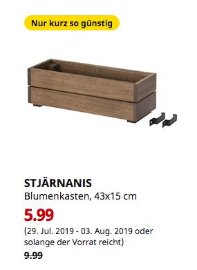 IKEA Großburgwedel - STJÄRNANIS Blumenkasten, für draußen, Akazie, 43x15 cm - jetzt 40% billiger