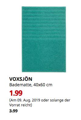 IKEA Kaiserslautern - VOXSJÖN Badematte, türkis, 40x60 cm - jetzt 50% billiger