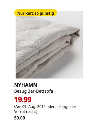 IKEA Kiel - NYHAMN Bezug 3er-Bettsofa, Borred hellbeige - jetzt 66% billiger