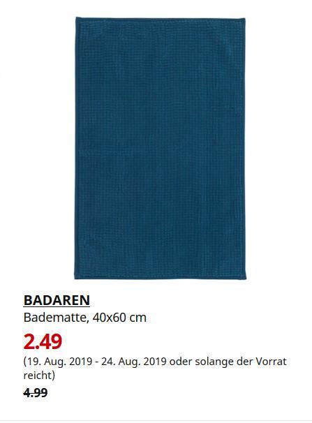 IKEA Magdeburg - BADAREN Badematte, grünblau, 40x60 cm - jetzt 50% billiger