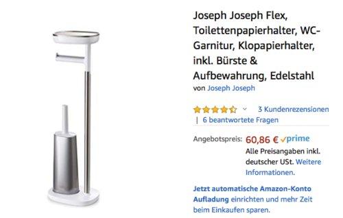 Joseph Joseph 70519 Flex WC-Garnitur, Edelstahl - jetzt 22% billiger