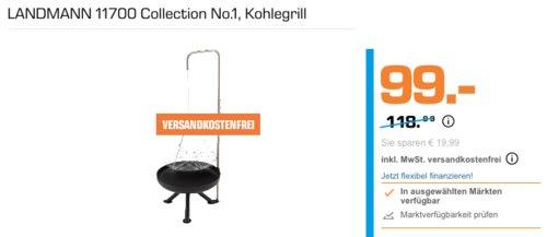LANDMANN 11700 Collection No.1 Kohlegrill/Schwenkgrill, Ø 50 cm Grillrost - jetzt 17% billiger