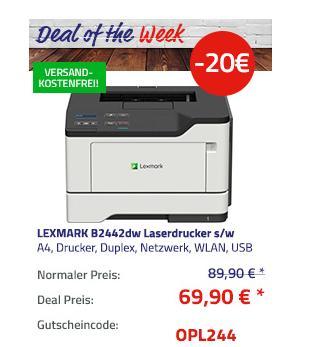 LEXMARK B2442dw Laserdrucker s/w, A4 - jetzt 22% billiger