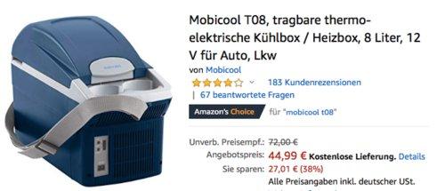Mobicool T08 8 Liter tragbare thermo-elektrische 12 V Kühlbox / Heizbox für Auto - jetzt 15% billiger
