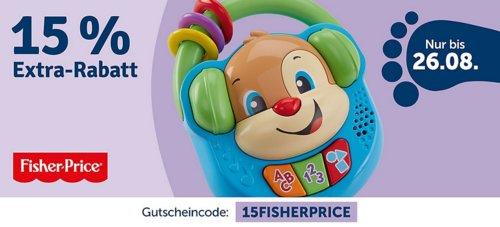 myToys 15 % Rabatt auf Artikel der Marke Fisher-Price: z.B. Fisher-Price Kugelspaß Dino - jetzt 14% billiger