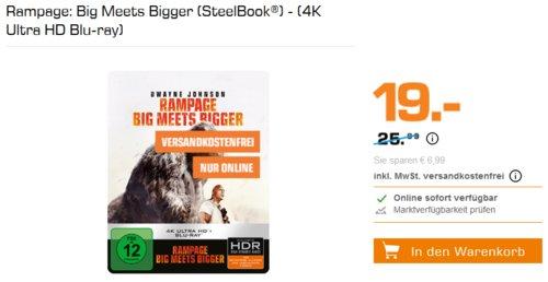 Rampage: Big Meets Bigger (SteelBook®) - (4K Ultra HD Blu-ray) - jetzt 27% billiger