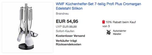 WMF Küchenhelfer-Set 7-teilig Profi Plus, Cromargan Edelstahl rostfrei 18/10 - jetzt 17% billiger
