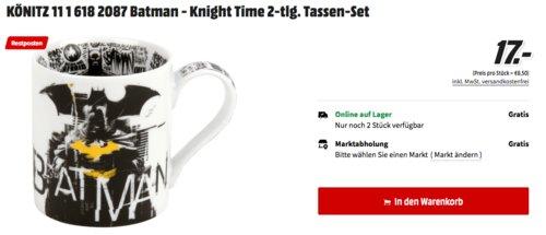 2x KÖNITZ Batman - Knight Time Tassen-Set - jetzt 22% billiger