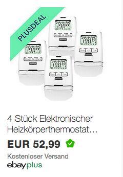 4 Stück Elektronischer Heizkörperthermostat HT 2000 - jetzt 10% billiger