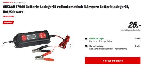 ABSAAR 77949 KFZ-Batterieladegerät, 6/12V-4 Ampere - jetzt 16% billiger