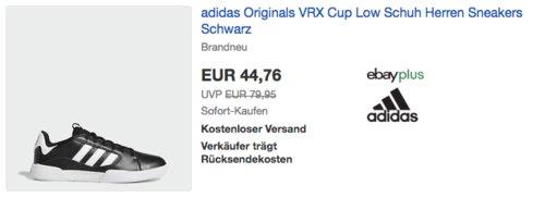 adidas Originals VRX Cup Low Herren Sneakers/Skateschuhe (38,5-47), schwarz - jetzt 17% billiger