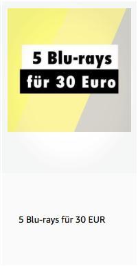 Amazon: 5 Blu-rays für 30 EUR bis 6.10.2019 - jetzt 53% billiger