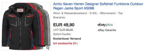 Arctic Seven AS-088 Herren Softshell Jacke, versch. Farben und Größen - jetzt 17% billiger