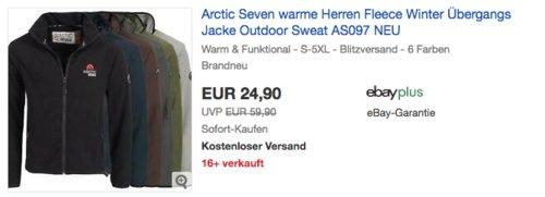 Arctic Seven AS097 Herren Fleecejacke, versch. Farben und Größe - jetzt 17% billiger