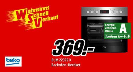 BEKO BUM22329X Herdset, Backofen mit Kochfeld - jetzt 8% billiger