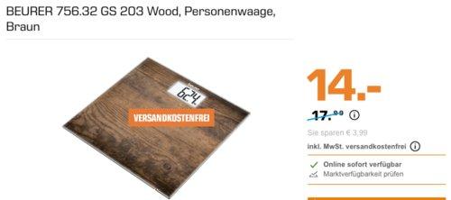 BEURER 756.32 GS 203 Wood Personenwaage - jetzt 18% billiger