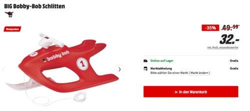 BIG Bobby-Bob Schlitten mit Lenkrad, rot - jetzt 30% billiger
