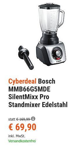 Bosch MMB66G5MDE SilentMixx Pro Standmixer, 33.000U/min - jetzt 14% billiger