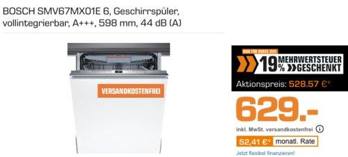BOSCH SMV67MX01E Geschirrspüler (vollintegrierbar, A+++, 598 mm) - jetzt 16% billiger