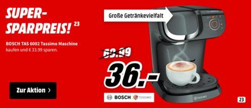 BOSCH TAS6002 Tassimo My Way Kapselmaschine, schwarz - jetzt 34% billiger