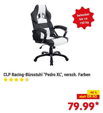 CLP Racing PEDRO XL Bürostuhl/Gaming-Stuhl mit Kunstleder-Bezug, versch. Farben - jetzt 11% billiger