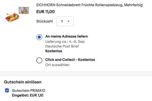 Eichhorn 100003721 - Schneidebrett mit Holzfrüchten, 12-tlg. - jetzt 10% billiger