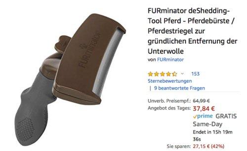 FURminator deShedding-Tool Pferd - Pferdebürste zur  Entfernung der Unterwolle,  Version 2.0 - jetzt 4% billiger