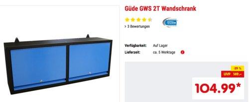 Güde GWS 2T Wandschrank, T 305 x B 1200 H 460 mm - jetzt 13% billiger