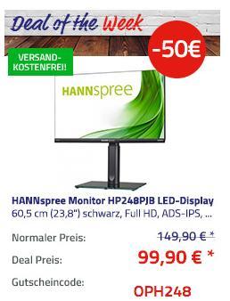 "HANNspree HP248PJB 60,5 cm (23,8"") LED-Monitor (Full HD, ADS-IPS, 5ms) - jetzt 33% billiger"