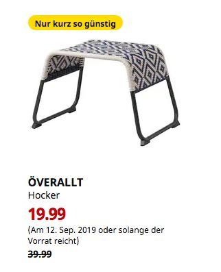 IKEA Augsburg - ÖVERALLT Hocker, für draußen blau - jetzt 50% billiger