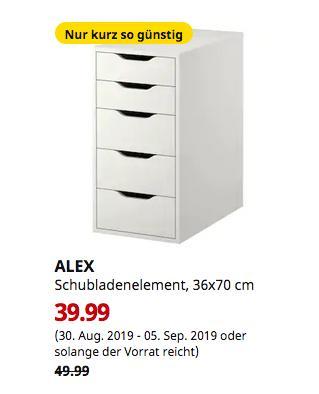 IKEA Berlin-Tempelhof - ALEX Schubladenelement, weiß, 36x70 cm - jetzt 20% billiger