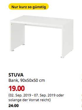 IKEA Bielefeld - STUVA Bank, weiß, 90x50x50 cm - jetzt 21% billiger