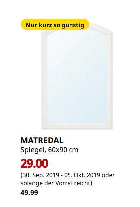 IKEA Bremerhaven - MATREDAL Spiegel, weiß, 60x90 cm - jetzt 42% billiger