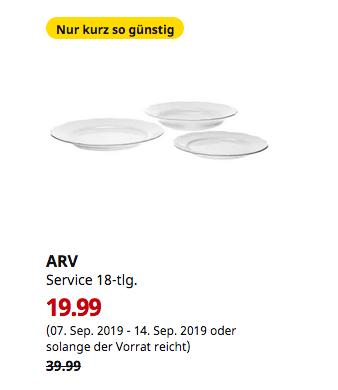 IKEA Brinkum - ARV Geschirrservice 18-tlg., weiß - jetzt 50% billiger