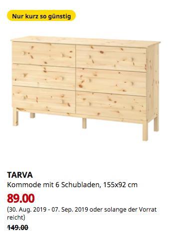 IKEA Brinkum - TARVA Kommode mit 6 Schubladen, Kiefer, 155x92 cm - jetzt 40% billiger
