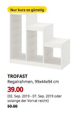 IKEA Düsseldorf - TROFAST Regalrahmen, weiß, 99x44x94 cm - jetzt 34% billiger