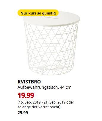 IKEA Dortmund - KVISTBRO Aufbewahrungstisch, weiß, 44 cm - jetzt 33% billiger