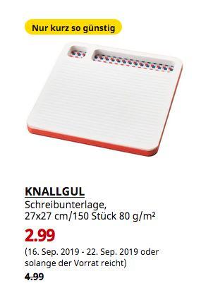 IKEA Dresden - KNALLGUL Schreibunterlage, Papier, 27x27 cm/150 Stück 80 g/m² - jetzt 40% billiger