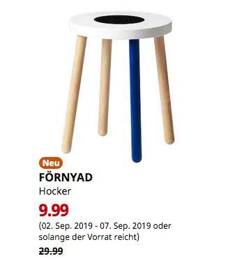 IKEA Erfurt - FÖRNYAD Hocker, Buche, weiß - jetzt 67% billiger