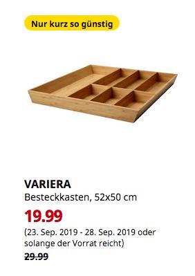 IKEA Frankfurt - VARIERA Besteckkasten, Bambus, 52x50 cm - jetzt 33% billiger