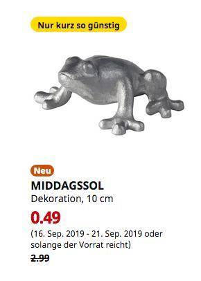 IKEA Hamburg-Altona - MIDDAGSSOL Dekoration, Frosch silberfarben, 10 cm - jetzt 84% billiger
