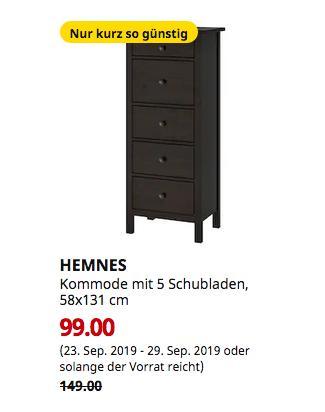 IKEA Hamburg-Moorfleet - HEMNES Kommode mit 5 Schubladen, schwarzbraun, 58x131 cm - jetzt 34% billiger