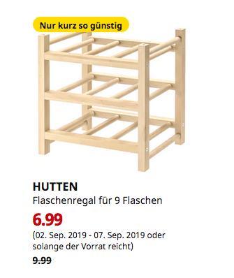 IKEA Hanau - HUTTEN Flaschenregal für 9 Flaschen, Massivholz - jetzt 30% billiger