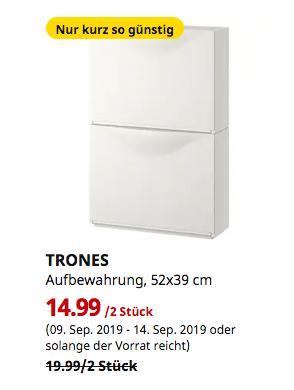 IKEA Hanau - TRONES Aufbewahrung, weiß, 52x39 cm, 2 Stück - jetzt 25% billiger