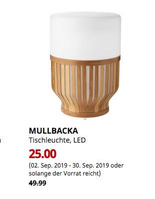 IKEA Hannover EXPO-Park - MULLBACKA Tischleuchte, LED, für draußen - jetzt 50% billiger