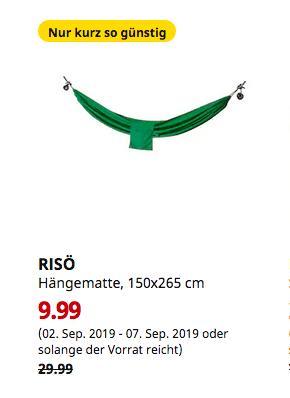 IKEA Köln-Am Butzweilerhof - RISÖ Hängematte, dunkelgrün, 150x265 cm - jetzt 67% billiger