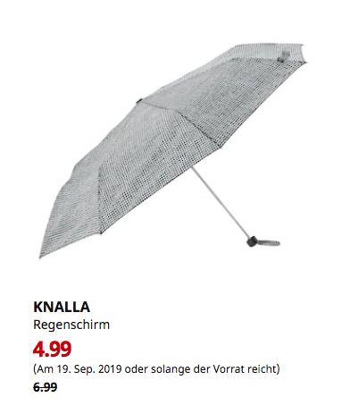IKEA Kaiserslautern - KNALLA Regenschirm, faltbar schwarz schwarz/weiß - jetzt 29% billiger