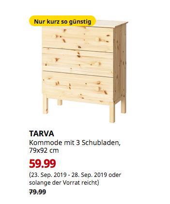 IKEA München-Brunnthal - TARVA Kommode mit 3 Schubladen, Kiefer, 79x92 cm - jetzt 25% billiger