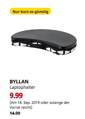IKEA Osnabrück - BYLLAN Laptophalter, Ebbarp schwarz/weiß - jetzt 33% billiger