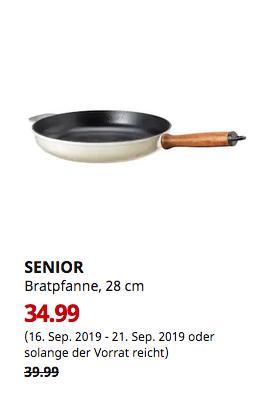 IKEA SENIOR Bratpfanne, elfenbeinweiß, 28 cm - jetzt 13% billiger